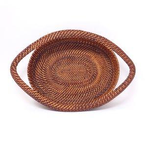 Rattan Handwoven Basket with Handles